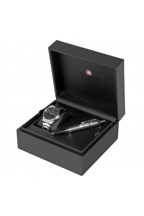 Gift Set Relógio SWISS MILITARY Recruit Prime Preto