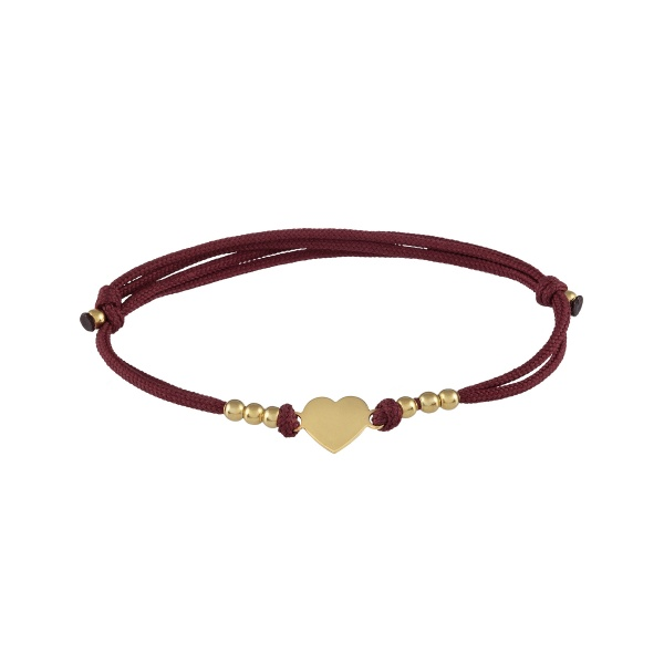 Pulseira UNIKE Five Wishes Burgundy UK.PU.0117.0055