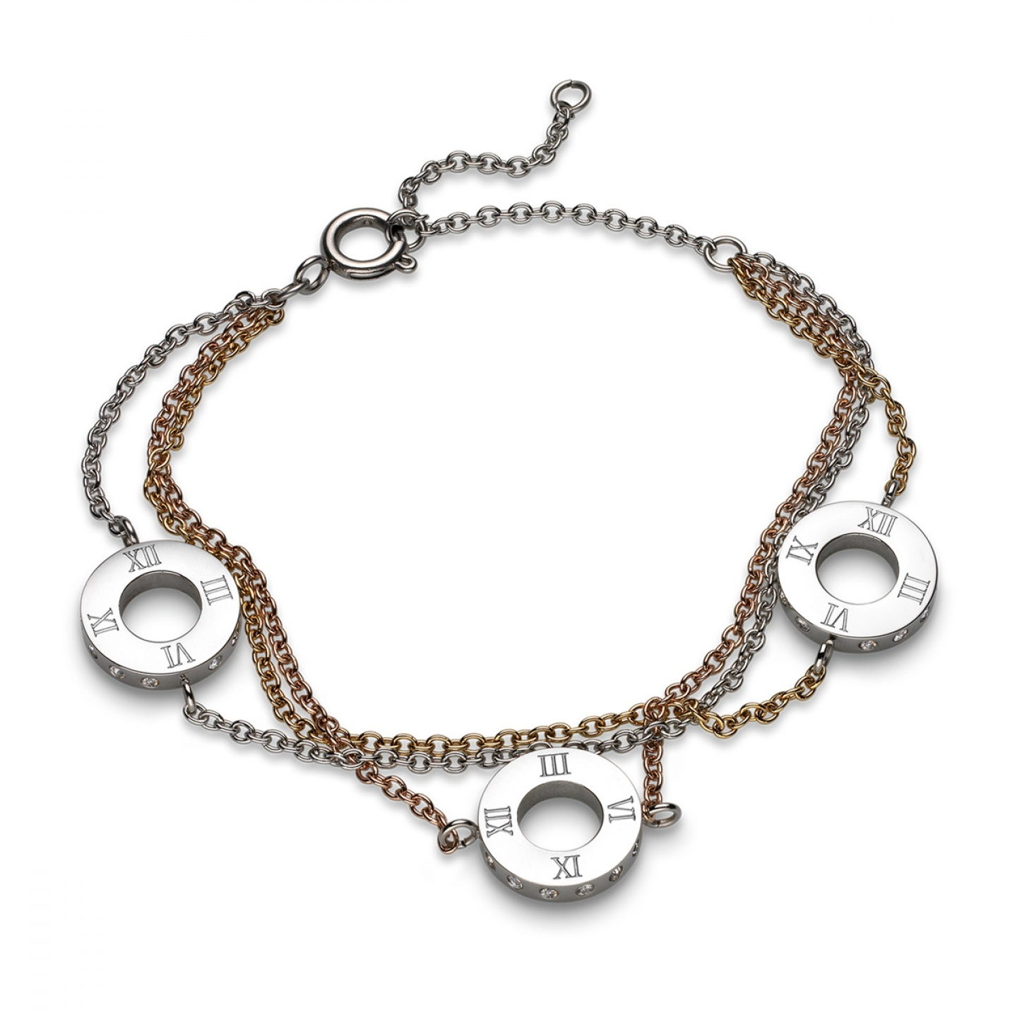 Pulseira ONE JEWELS Roma Tricolor